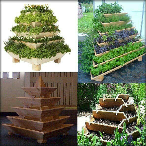 Pyramid herb garden