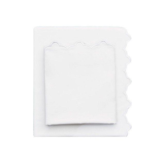 White Scalloped Embroidered Sheet Set