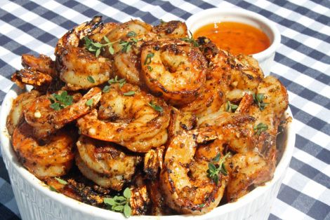 Blackened Shrimp with Cajun Garlic Butter. Wrap in bacon for an  even better dish