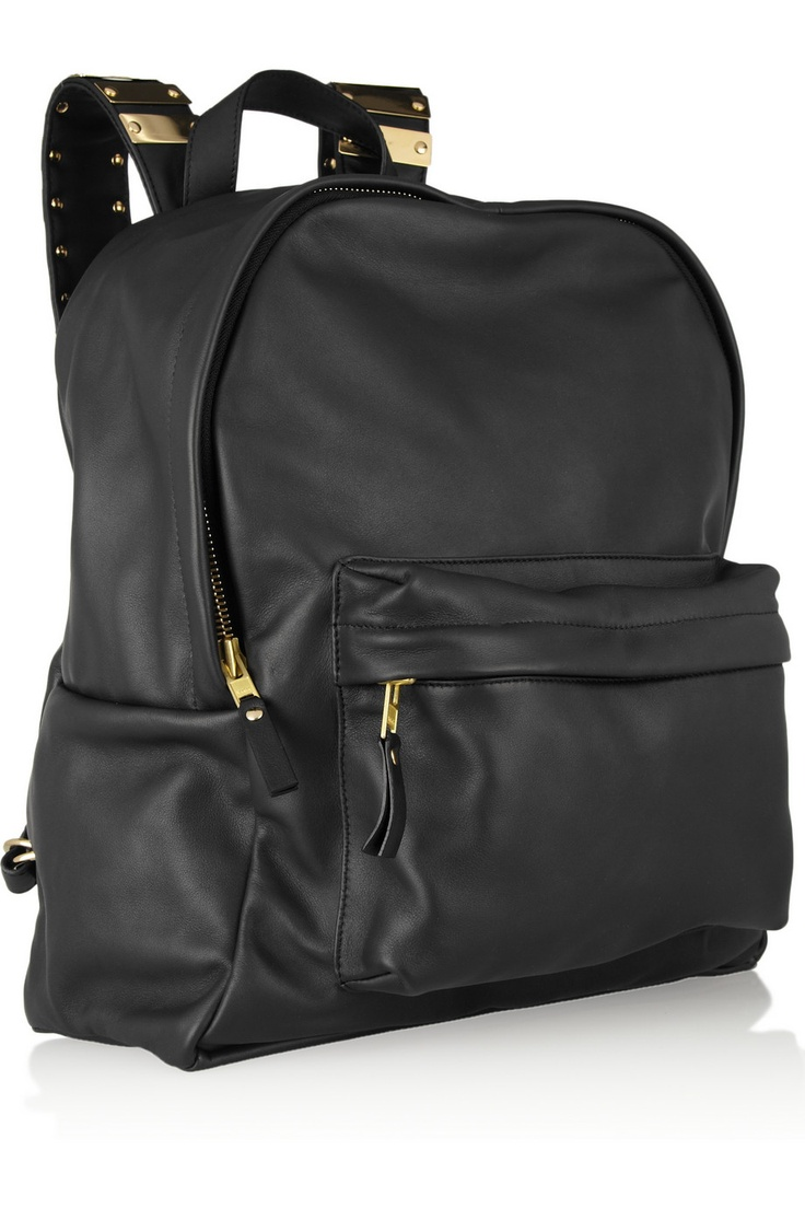 Sophie Hulme | Embellished leather and brass backpack  |