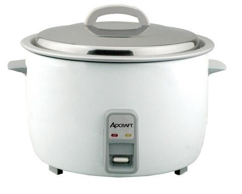 Commercial Rice Cooker (RC-E30) - 30 cup capacity. - Heavy duty professional quality commercial electric rice cooker. - Includes stainless steel lid. - Aluminum interior. - Complete with over sized pl