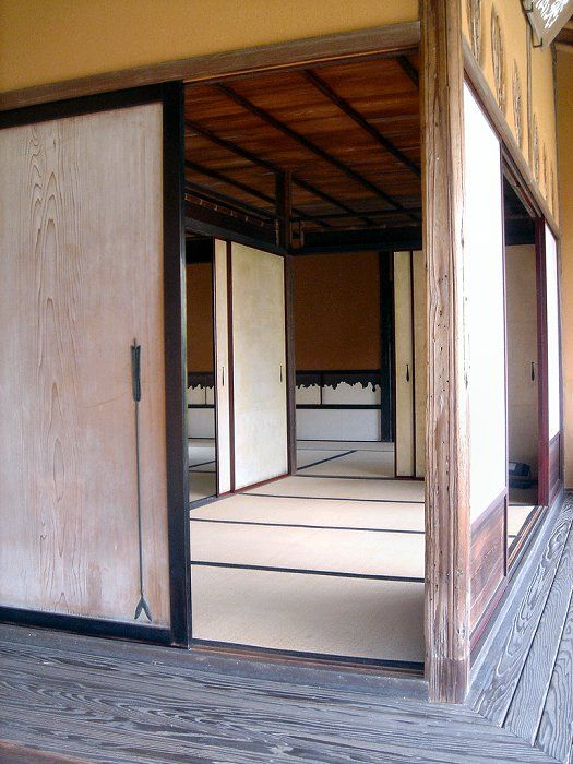 An interior of the Katsura Imperial Villa, Kyoto.  Sliding panels everywhere....yes!