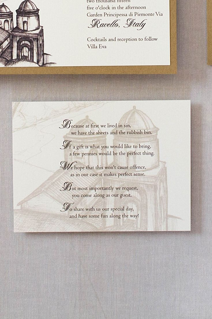 invitation letter for us vissample wedding%0A Ravello Italy Wedding Invitations