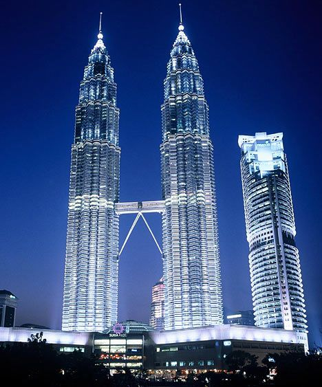Twin Towers in Kuala Lumpur. Kual Lumpur is the federal capital and most populous city in Malaysia