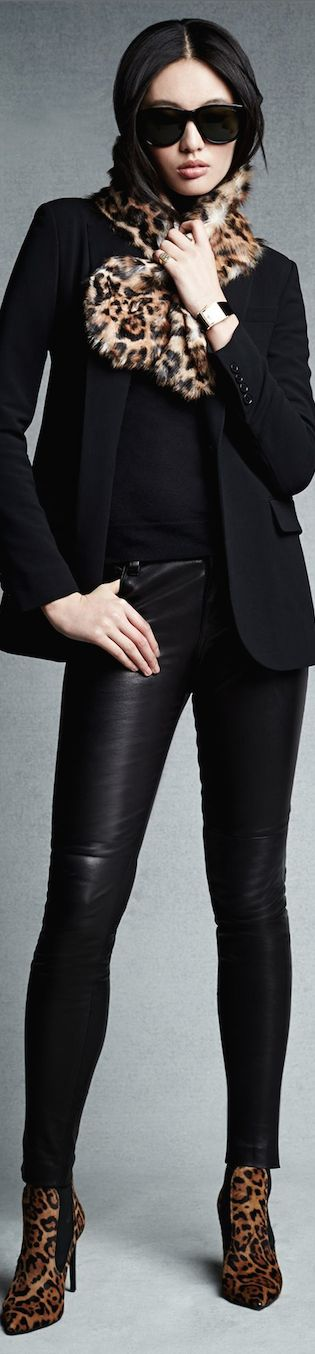 Ralph Lauren Black Label Pre-Fall 2014 ~ Stretch-Leather Abbey Pant