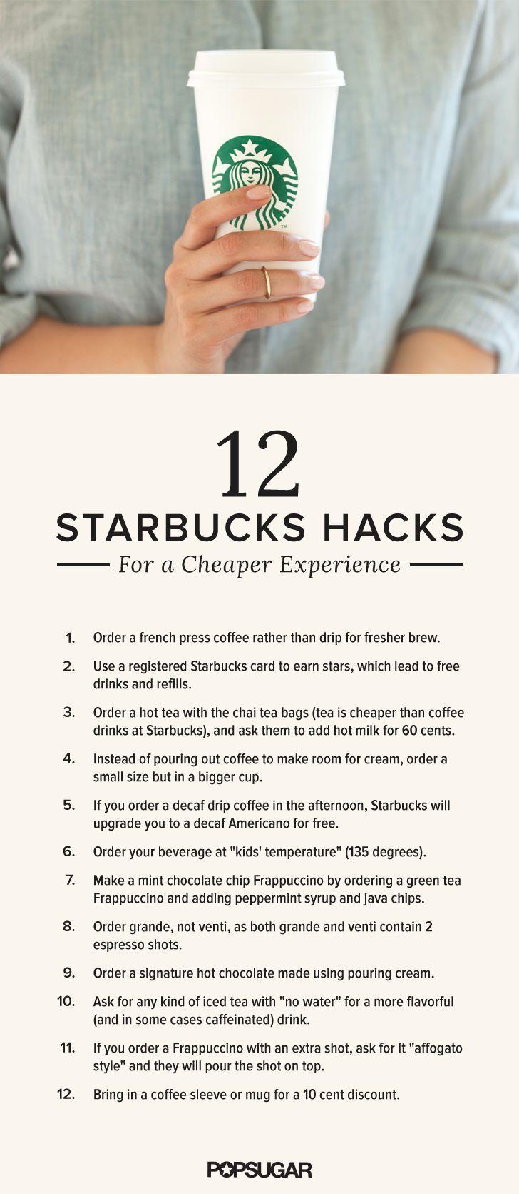 Best 25+ Starbucks Hacks Ideas On Pinterest  Secret Starbucks Drinks, Life  Hacks Music And Starbucks Secret Menu Fraps