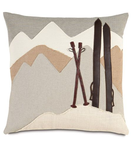 On the Piste ski lodge pillow                                                                                                                                                                                 More