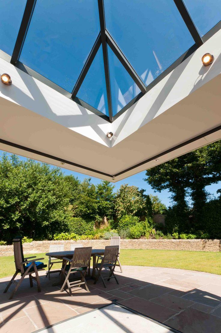 Cantileavered Bi-Folding Doors Opening for Bespoke Conservatory