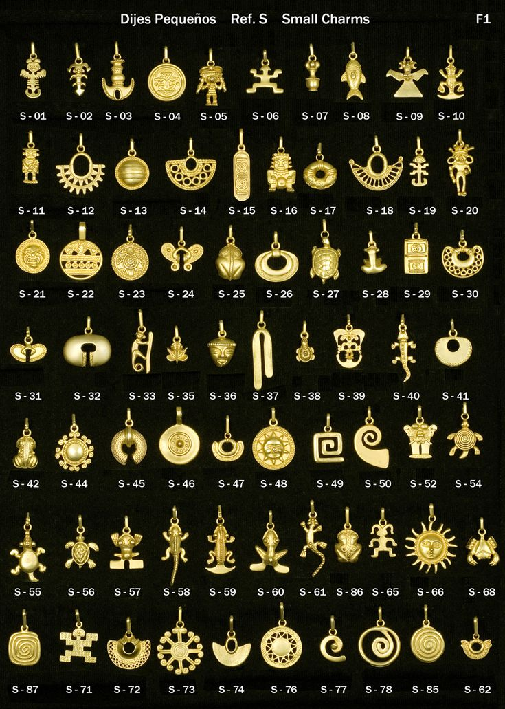 (Columbia) Gold Pendants in Pre-Columbian designs, from Colombia.