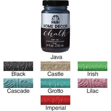 folk art home decor chalk paint 8oz grotto 34158 - Home Decor Chalk Paint