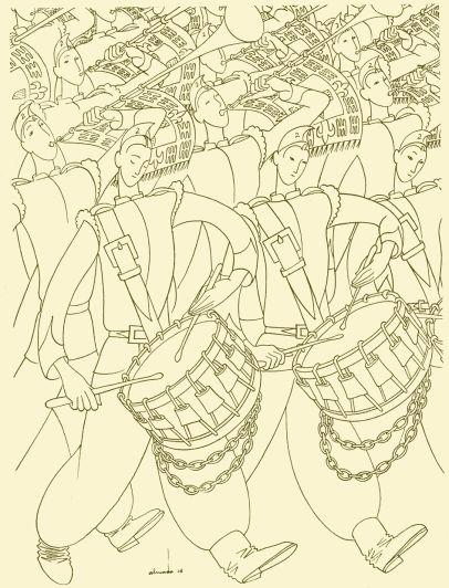 almada 38 sss Roteiro da Mocidade do Império, Silva Tavares, ilustração de Almada Negreiros, Agência Geral das Colónias, 1938