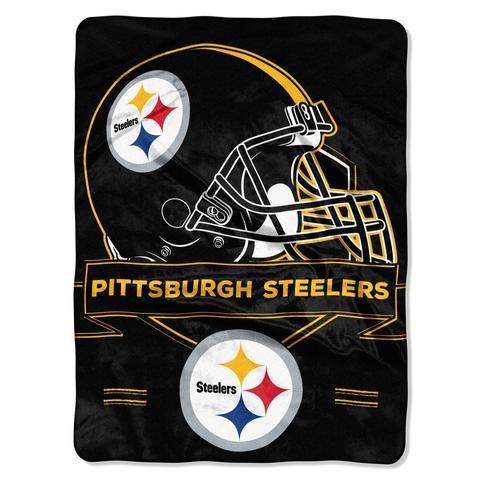 Pittsburgh Steelers Blanket - 60x80 Royal Plush Raschel Throw - Prestige Design #PittsburghSteelers