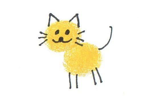 thumbprint crafts... change this to orange paint add black stripes and you have tiny tiger thumbprints for letter t