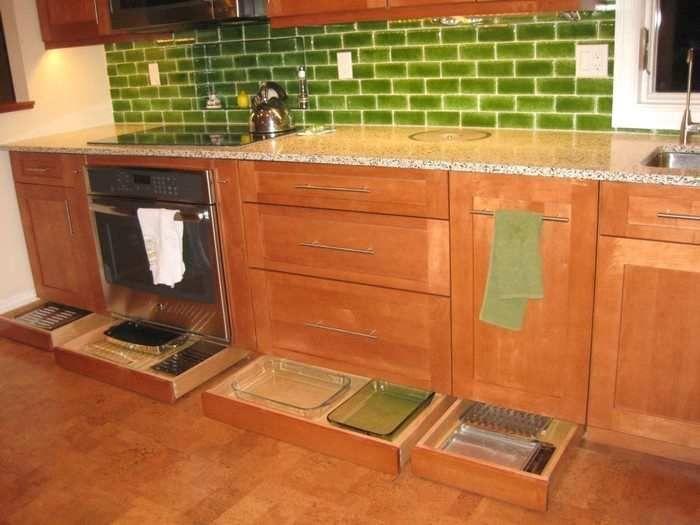 Base On Three Sides Of Island Toe Kick Kitchen Base Cabinets