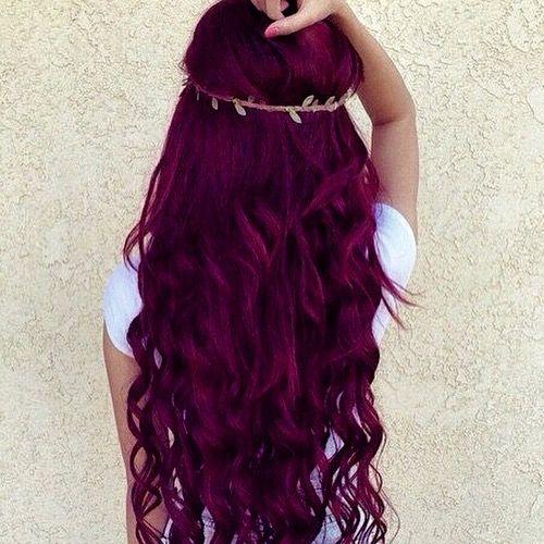 Imagen de hair, red, and purple