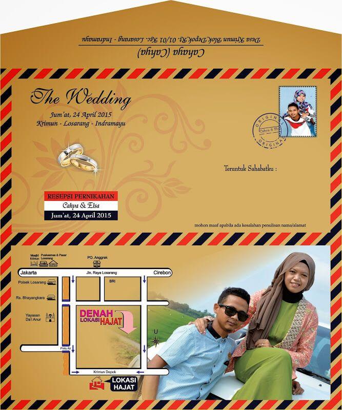 Contoh Undangan Pernikahan Amplop