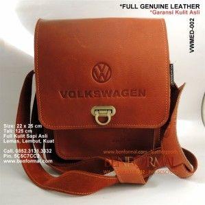 Tas Selempang Pria Kulit Keren Volkswagen VWMED-002