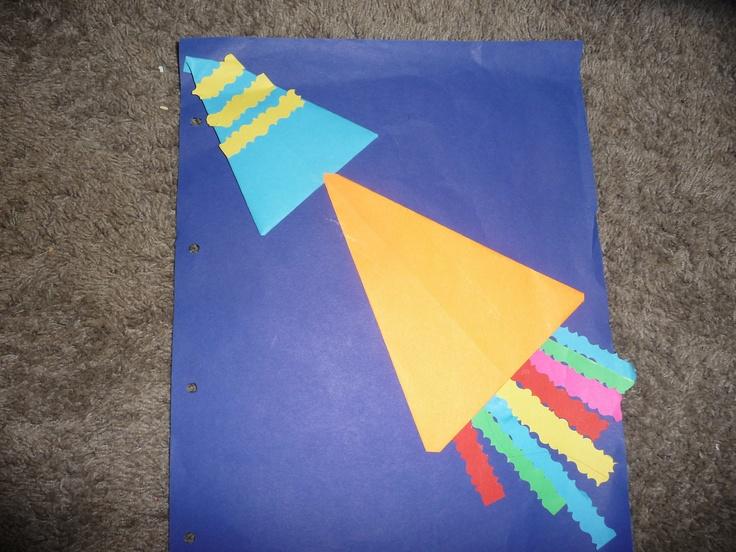 MAP: een raket van vliegers en mooi geknipte stroken....