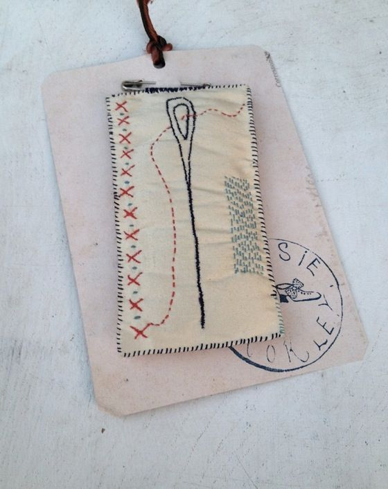 Image of Big needle silk brooch