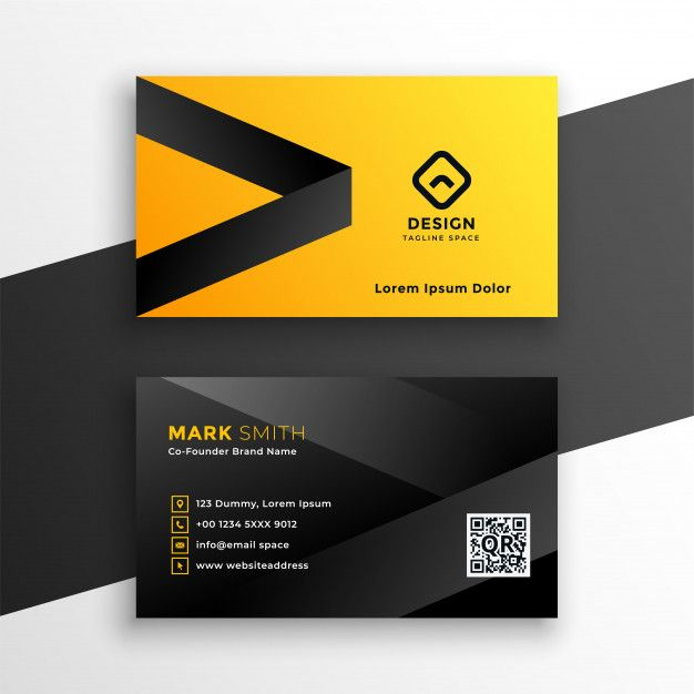 Download Yellow And Black Modern Business Card For Free Modern