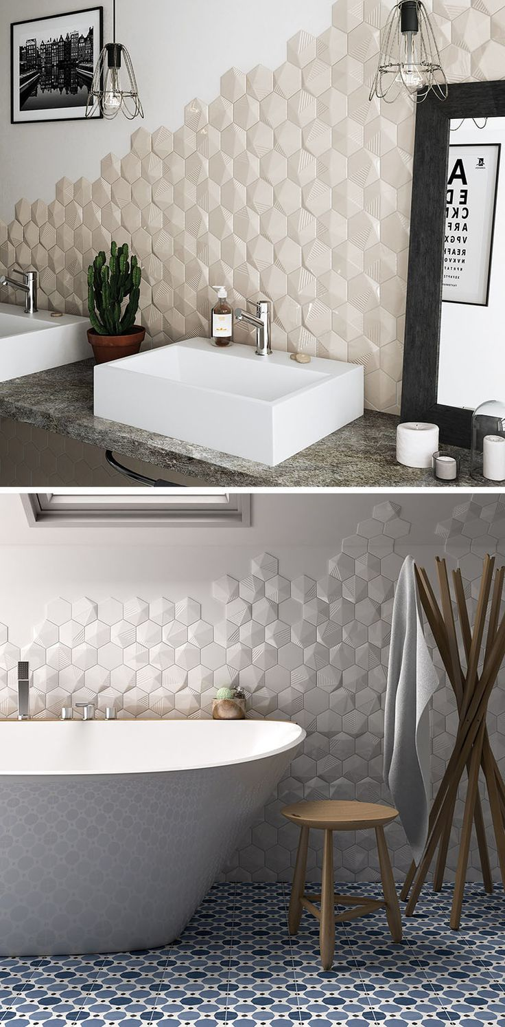 Bathroom Tile Idea  Install 3D Tiles To Add Texture Your 654 best So Fresh and so Clean images on Pinterest