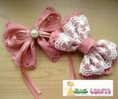 DIY Tutorial craft tutorials / How to make hair tie bows - Bead&Cord