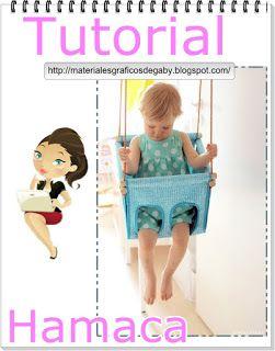 Materiales gráficos Gaby: Hamaca para niños incluye moldes