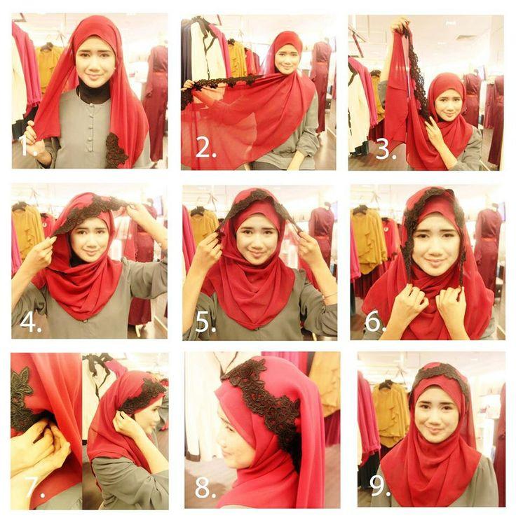 #lace #hijab #shawl #tutorial #sweet