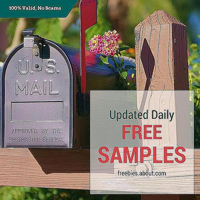 List of free samples by mail, updated August 8, 2016. These are all 100% legitimate, no strings attached free samples that I keep updated every day.