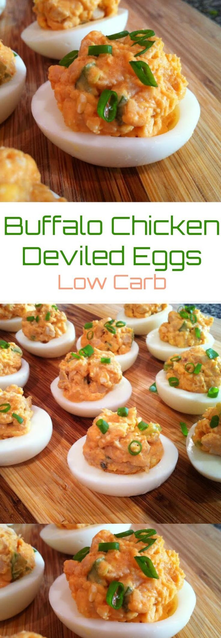 Buffalo Chicken Deviled Eggs | Peace Love and Low Carb
