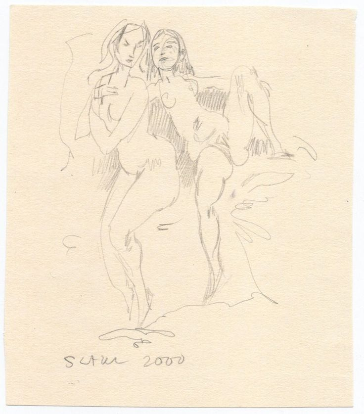 Miriam Slater Original Graphite Nude Women Female Figures Life Drawing #Realism