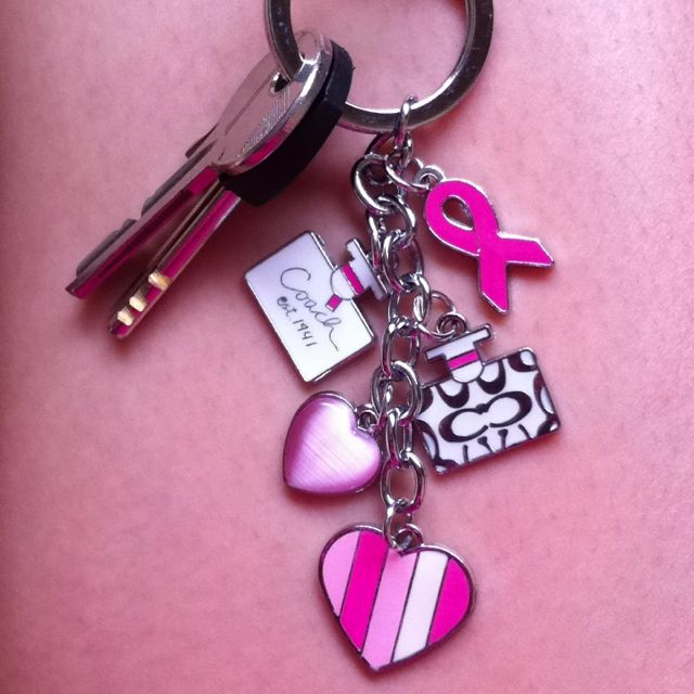 Coach key chain, limited BC Awareness. Love!
