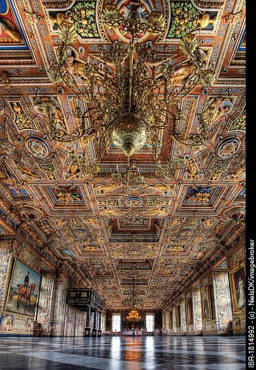 The Great Hall at Frederiksborg Castle, Hillerød, Denmark, Europe