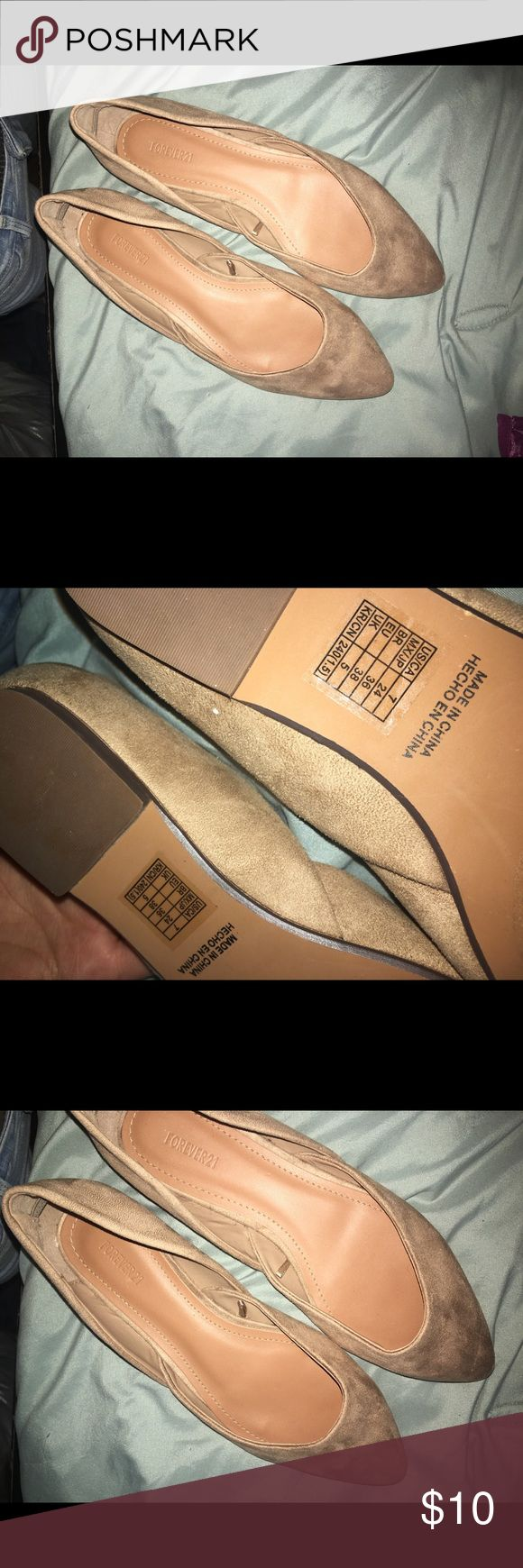 Flats | Suede material | beige Worn once size 7 | offers accepted | make a bundle ! Shoes Flats & Loafers