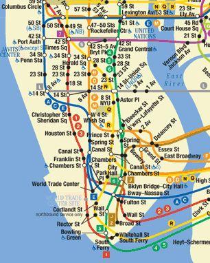 Bowery Nyc Subway Map Map Of New York Nyc Subway