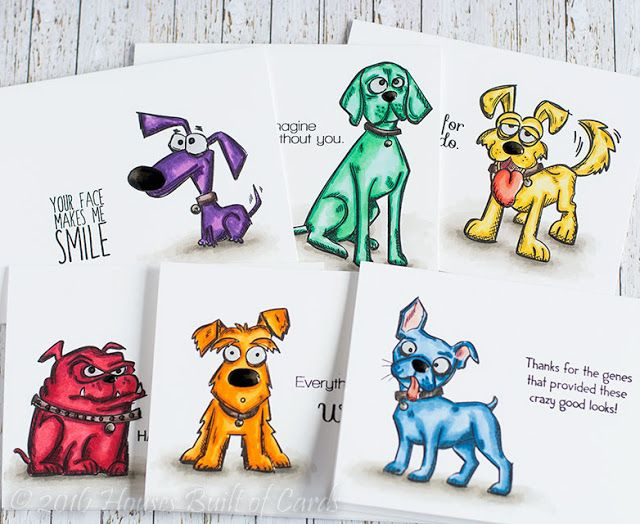 Houses Built of Cards: SSS Masterpiece Box Blog Hop featuring the brand new Tim Holtz Crazy Dogs stamp set!