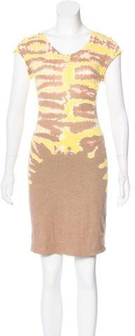 Raquel Allegra Tie-Dye Short Sleeve Dress