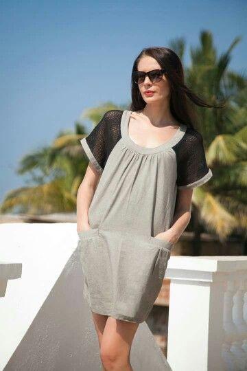 Hemp-cotton dress by Evsey