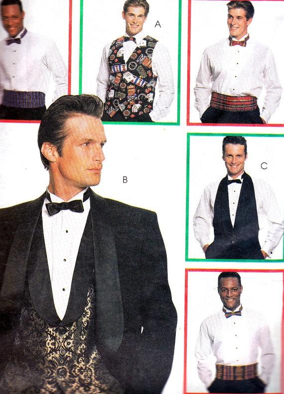 Mens Formalwear Pattern McCalls 8000 Mens Vest by paneenjerez, $8.00