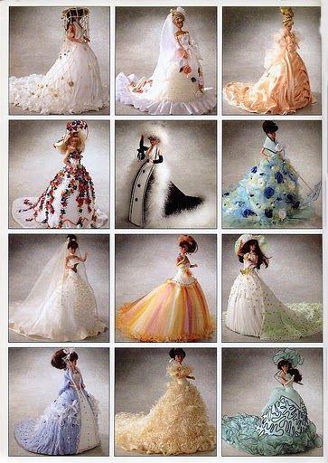 138 best Barbie Kleider images on Pinterest   Barbie dolls, Barbie ...