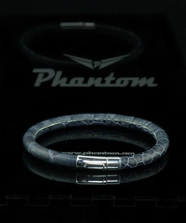Grey Ostrich Leather Bracelet by Phantom. . #jewelry #leatherbracelet #phantom #ostrichbracelet #silver #handcrafted #beautiful #bracelet #fashion #ostrichleather #luxury #musthave #leather #billionaire #billionairesclub