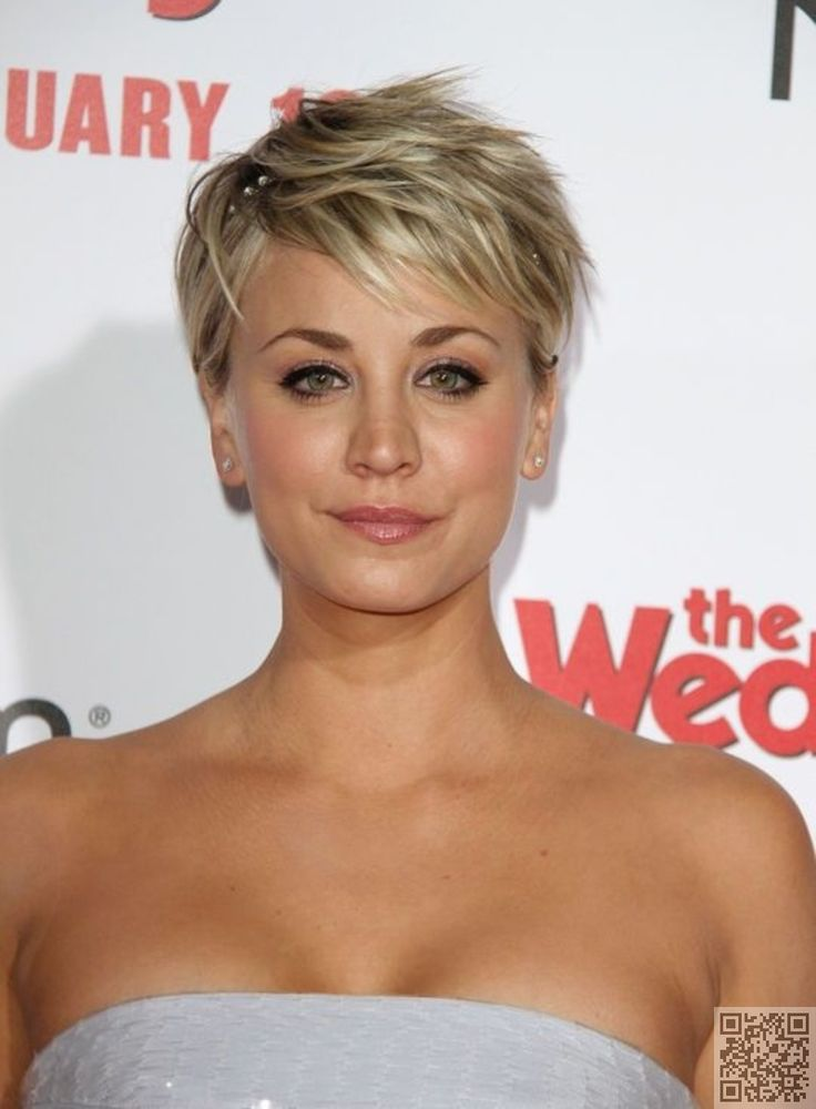 19. #Kaley Cuoco-Sweeting's Tousled #Pixie - The Long and Short of It - Pixie Cuts ... → Hair #Limited