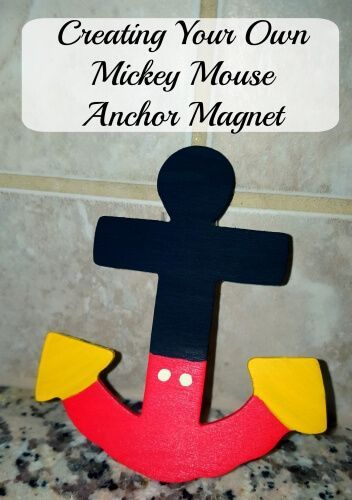 Make your own Disney Cruise Line Mickey Mouse Anchor Magnet to put on your stateroom door or give as fish extender gifts!