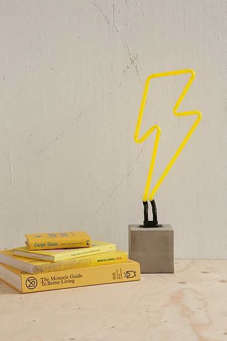 Neon Lightning Table Lamp