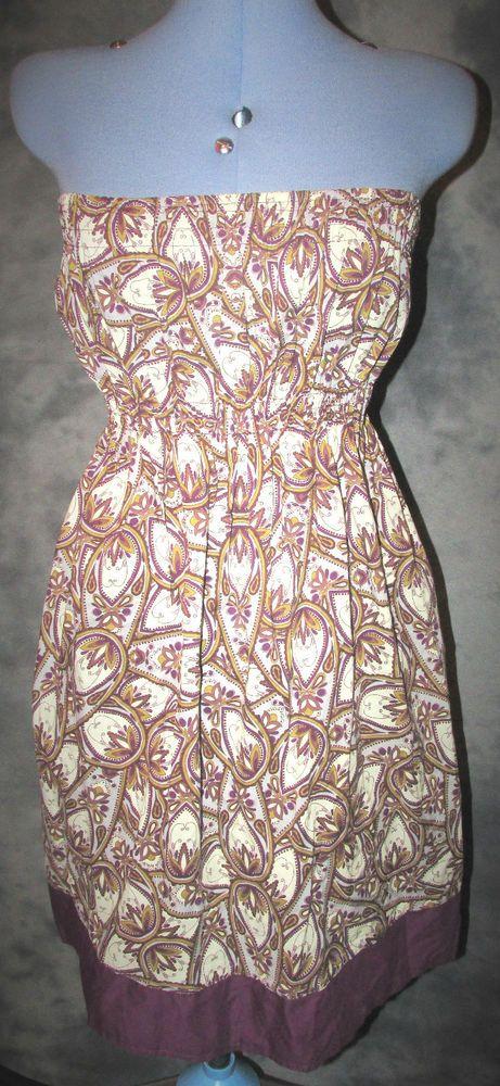 Atmosphere,ladies,size 16,purple,floral,knee length,bandeau ,cotton,Sun Dress
