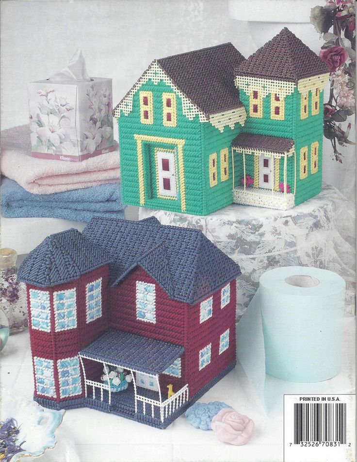 Plastic Canvas Pattern Book Victorian House by KnitKnacksCreations