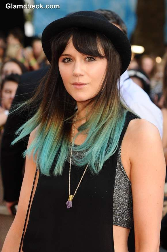 Lilah Parsons Dip Dyes Locks Emerald Green