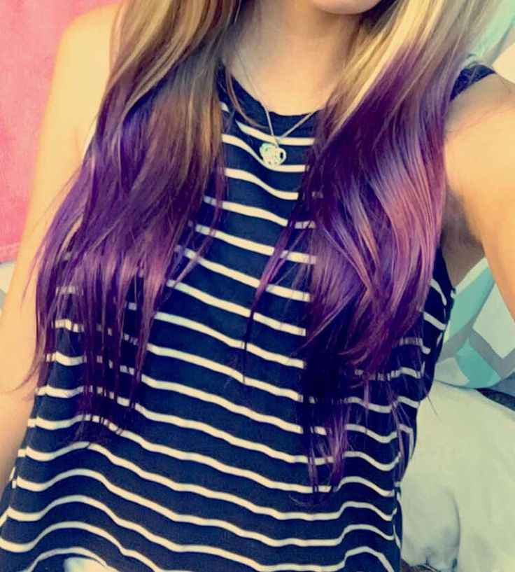 purple ombré ends on blond hair (my picture)