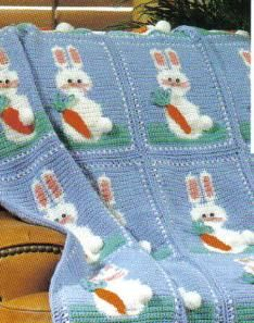 Free Bunny Easter Afghan Crochet Pattern: