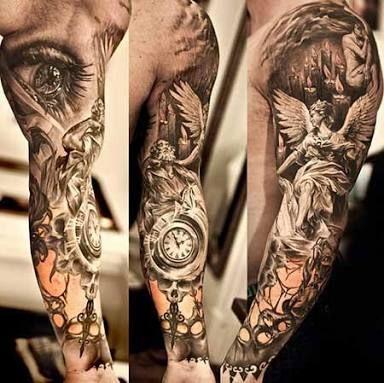 Resultado de imagem para tatuagem braço masculino